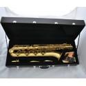 Superbrass Yellow Antique Baritone Saxophone Sax + German Mouthpiece, 2 Necks