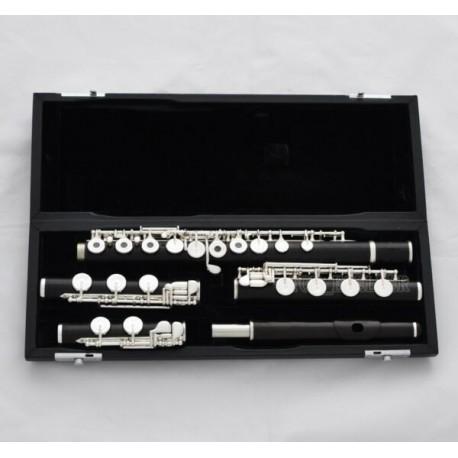 Ebony Wood Flute Italian Pads C & B & Flat B foot Professional 3 Foot Concert Flute