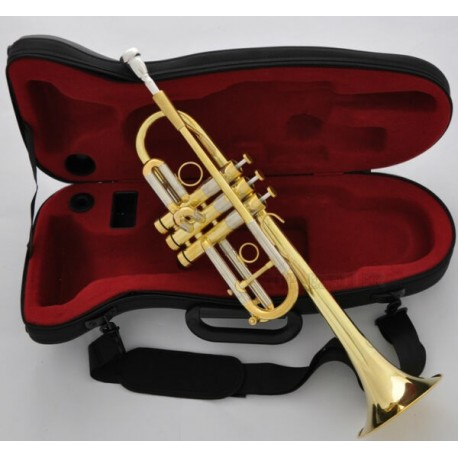 Professional Gold Heavy C Trumpet Horn Monel Valve 5'' Bell With Case
