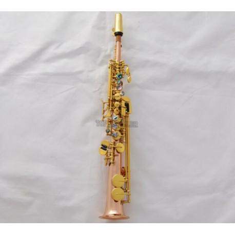 Professional Rose Brass Sopranino Sax Eb saxophone Abalone Shell Key With Case