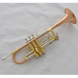 Professional Rose Brass C Key Trumpet horn Monel valve 4.882'' Bell With Case