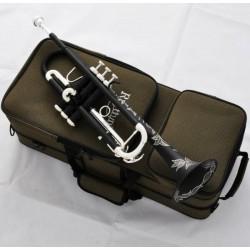 Matt Black Trumpet horn Monel Valves Beautifully Hand carved New Case