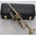 High grade Antique Brass Trumpet Horn Bb Keys Leather Case