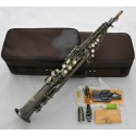 Superbrass Antique Soprano Saxophone Bb High F# Straight Sax With Case