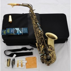 Professional Antique Bronze 54 Reference Eb Alto Saxophone Sax + Metal Mouthpîece