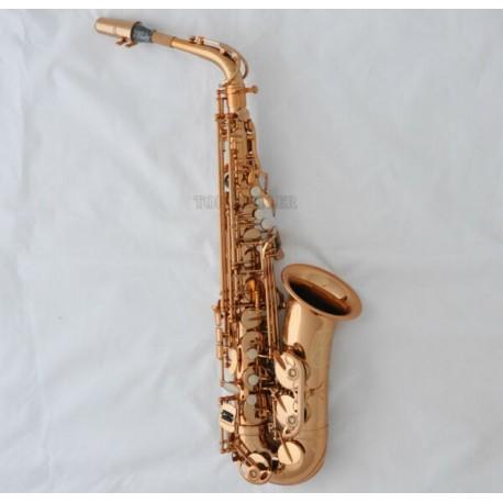 Professional Rose Gold Plated Alto Sax Saxophone est Saxofon With Case
