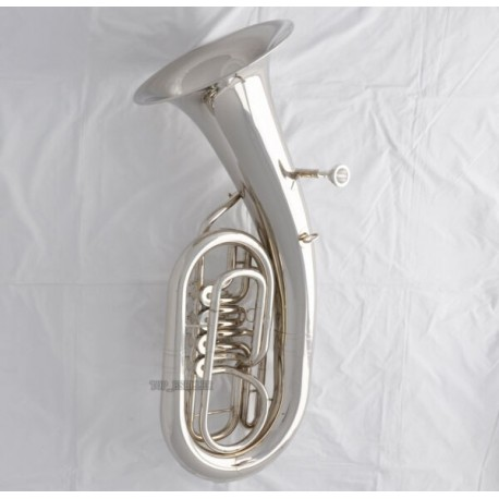 Professional Silver Nickel 4 Rotary Valves Euphonium Bb Key horn With Case