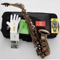 Professional Superbrass 5000 Model Alto Saxophone Red Antique Eb Sax Engraving Bell
