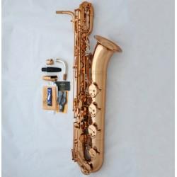 New PRO. Superbrass Baritone Saxophone Rose Gold Finish Eb Sax Germany Mouth