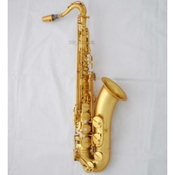 Professional Matt GOLD Tenor Saxophone Bb Saxofon Hand Engraving Bell Case