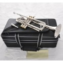 Professional Silver Nickel Plated Trumpet Superbrass Bb horn 2 Mouthpiece With Case