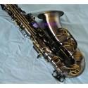 Professional Antique Bronze Eb Alto Saxophone Abalone shell key High F? sax