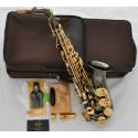 Professional Superbrass Eb Black Nickel Alto Saxophone High F# Sax with Case