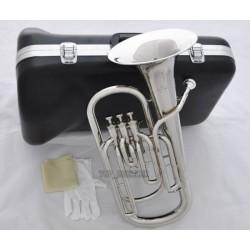 High-Grade New Silver Nickel 3 Piston Baritone Horn Bb Keys Wtih Case