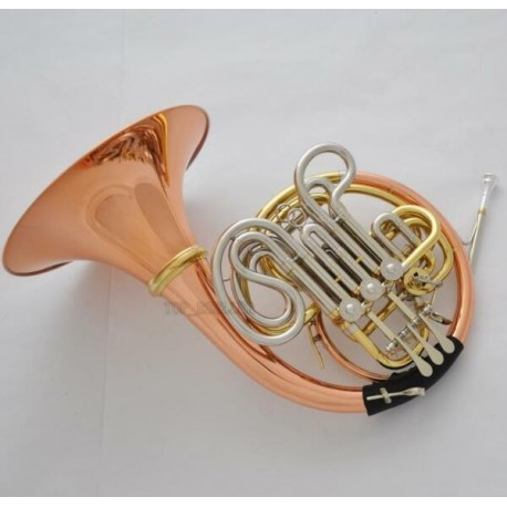 Professional 103 Model Double French Horn ROSE BRASS Detachable Bell CASE
