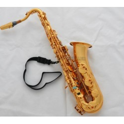 Professional Gold C Melody Saxophone Sax High F# ABALONE Shell +2Necks With Case