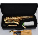 Professional Superbrass Gold Alto Saxophone sax High F Eb Saxofon With Case
