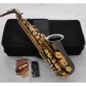 Professional Black Nickel 54 Reference Alto saxophone Eb voice Sax Hand Engraving Bell
