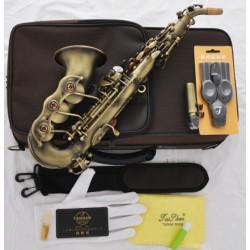 Professional Superbrass Curved Soprano Saxophone Matt Antique Bb Sax with case