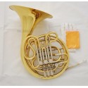 """Professional Gold Lacquer Double French Horn F/Bb 4 Key 12.2"""" bell with Case"""
