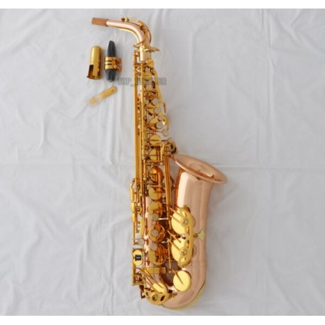 Customized 54 Alto Saxophone Professional Rose Brass Eb Sax With Case