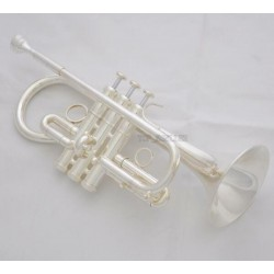 Customized Pro. Silver Eb Cornet E-Flat Trumpet Horn Monel Valve With Case