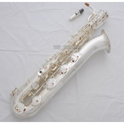 Professional Silver Plated Baritone Saxophone Bari sax Low A to High F# with Case