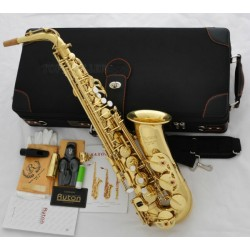 Professional USA Ryton Gold Alto Saxophone Eb High F# German Mouthpiece, Deluxe Case