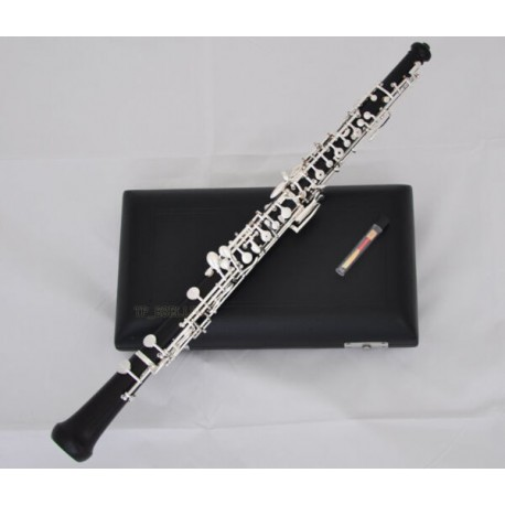 Professional Grenadilla Ebony Wooden Oboe C Key Silver Plated With Case