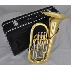 Professional Gold Lacquer 3+1 Piston Euphonium Superbrass Brand horn Bb Key w/Case