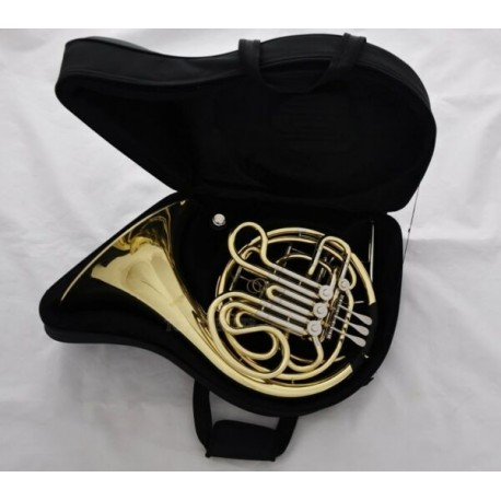 Professional Superbrass Double French Horn Gold Lacquer Finish F/Bb 4 Key with Case