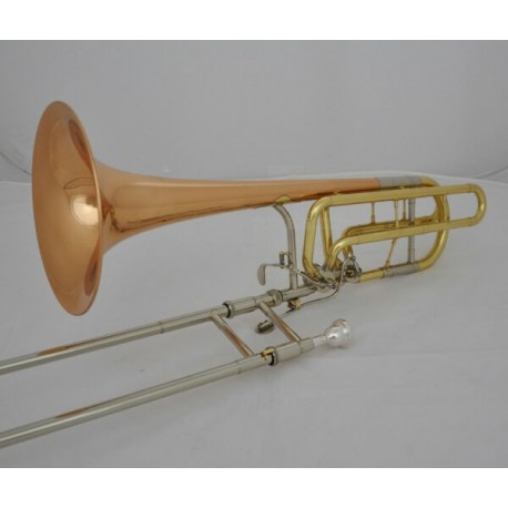 Professional Double Rotor Bass Trombone Bb/F/Eb & Bb/F/D/Gb Rose Brass Bell