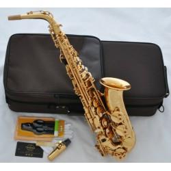Professional Gold Superbrass Eb Alto Sax Saxophone High F# Saxofon Italian pads