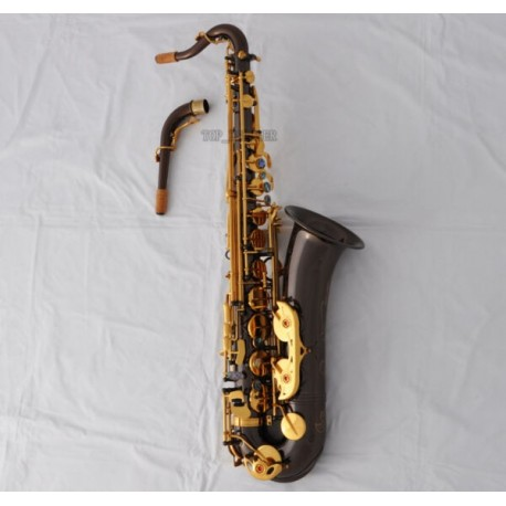 Professional Black Nickel C Melody Saxophone High F# Abalone Key 2-necks with Case