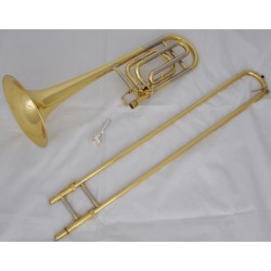 Superbrass Gold Tenor Trombone Bb/F Key Cupronickel Tuning Pipe Trigger Horn with Case