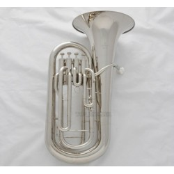 Professional Silver Nickel Euphonium horn 4 Valves With Case