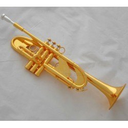 Professional Level shiny gold plating Trumpet Heavy horn Bb Monel Valve case