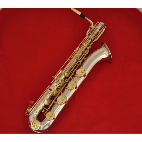 Professional Silver Gold Eb Baritone Saxophone Superbrass Sax Low A Key High F#