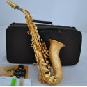 Professional Satin Gold Finish Superbrass Curved Soprano Saxophone Bb Sax High F#