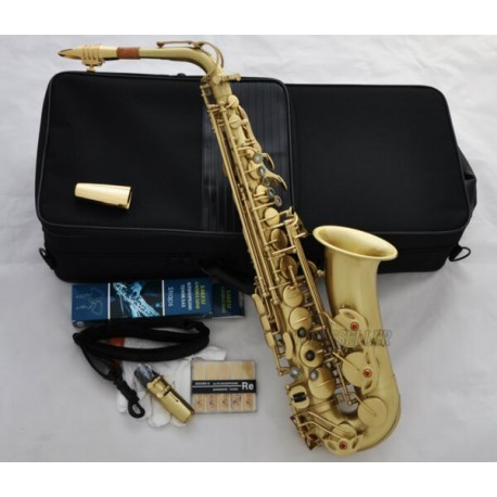 Professional Yellow Antique 54 Reference Alto Sax Saxophone High F# Metal Mouth