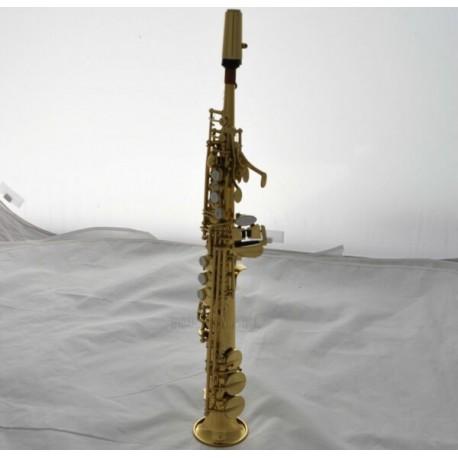 Professional Straight Gold Eb Sopranino Saxophone Low Bb High F# Sax With Case