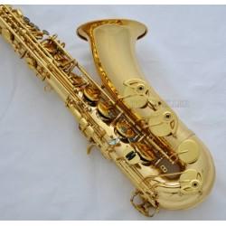 Professional Gold Tenor Saxophone sax Abalone Shell Key High F Bb Saxofon W/Case