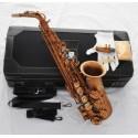 Professional Eb Alto Sax Matte Coffee Saxophone Beautiful hand engraved bell