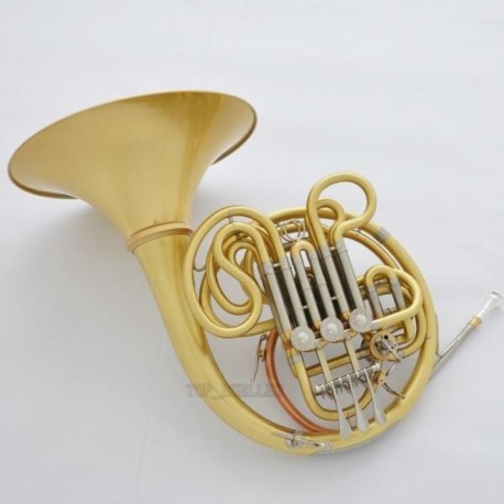 Professional Brushed Brass Double French Horn 103 Model Detachable Bell est