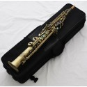 Professional Antique Neck Built-in Soprano Saxophone Straight Sax High F# G Keys