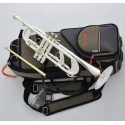 Professional Heavy Detachable Bell Trumpet Silver horn Monel Valve With Case