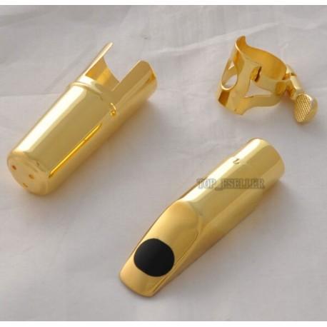 Metal Jazz Soprano Saxophone Mouthpiece Gold Plated New Size 5-12