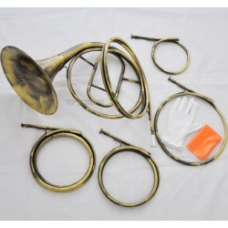 Top Newest Antique 5 Tone French Horn Natural HORN A/D/E/F/G Key With Case