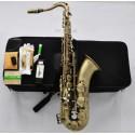 Superbrass Antique Bronze Tenor Saxophone High F# Bb Sax +Jazz Metal Mouth 10Pc Reeds