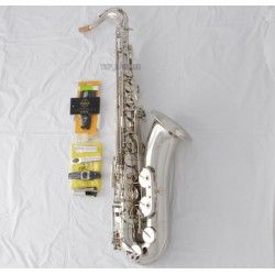 Professional Superbrass Tenor Saxophone Silver nickel Bb Sax With Case+ Metal Mouth